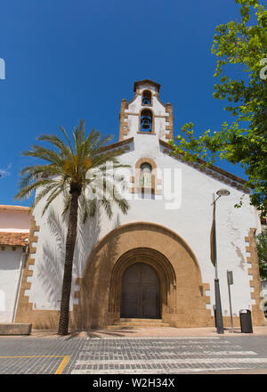 Xabia Spain view of a spanish church in the historic town - Stock Image