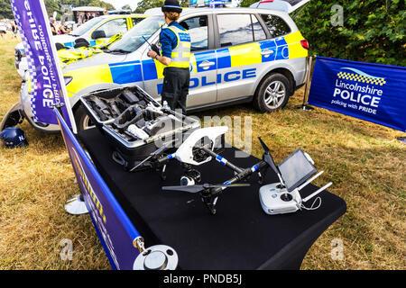 Police drone, police camera drone, police security, police, drone, drones, police tech, police technology, tech, technology, police UK, UK police, - Stock Image