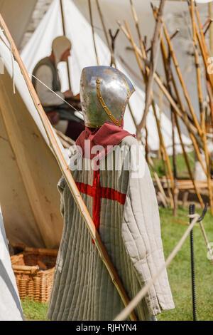 Re-enactment medieval festival - Stock Image