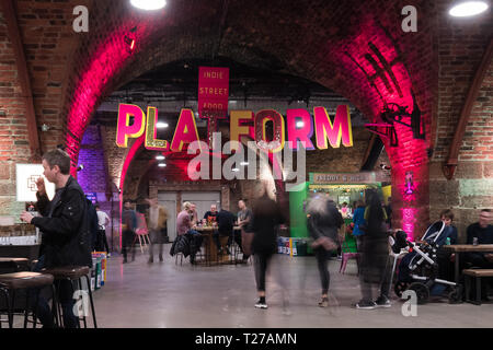 Platform at Argyle Street Arches, Glasgow, Scotland, UK - Stock Image