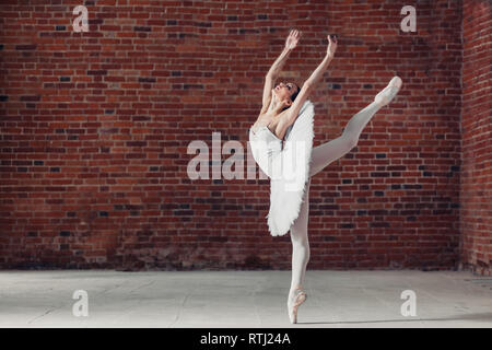 talented dancer expressing herself, dance style - Stock Image