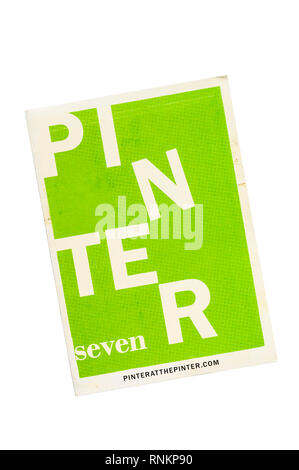 2019 Programme for Pinter Seven. Seventh in Pinter at the Pinter production of all of Harold Pinter's short plays in one season at the Pinter Theatre. - Stock Image