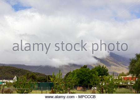 Storm Clouds in the Tradouw Valley, Barrydale, South Africa - Stock Image