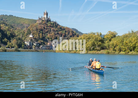 Cochem, Cochem-Zell, hineland-Palatinate, Germany - Canoeing on the Moselle river - Stock Image