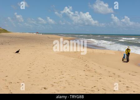 Sauipe, Brazil - 29 January 2019: The coast of Sauipe on Bahia in Brazil - Stock Image