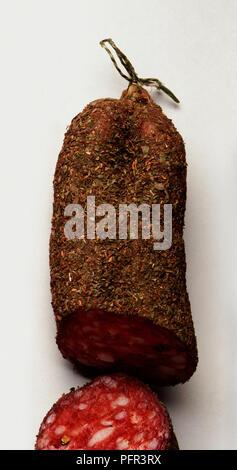 Saucisson Fume Aux Herbes - Stock Image