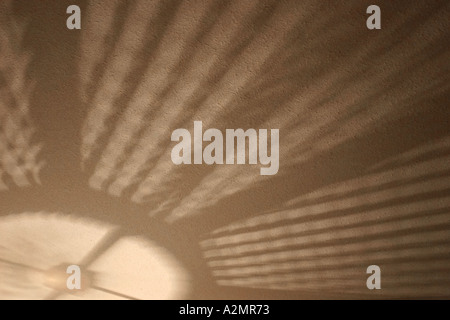 A lamp shade casts a intriguing shadow. - Stock Image