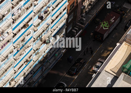 Apartments seen from above on Hong Kong Island - Stock Image