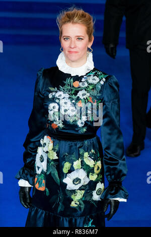 London, UK. 12th December, 2018. Edith Bowman at the European Premier of Mary Poppins Returns on Wednesday 12 December 2018 held at The Royal Albert Hall, London. Pictured: Edith Bowman. Credit: Julie Edwards/Alamy Live News - Stock Image