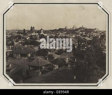 Mahalaua Antim, Bucharest, ca 1856, by Ludwig Angerer - Stock Image