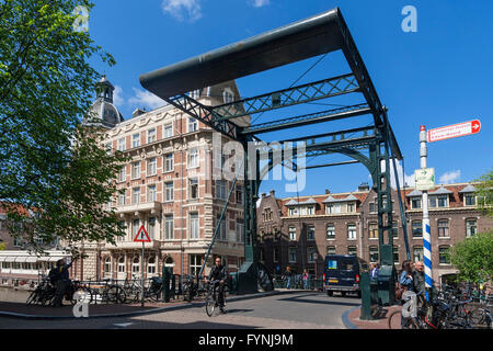 Draw Bridge, NH Doelen Hotel, Amsterdam, Netherlands - Stock Image