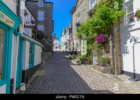 The Grey Mullet bed and breakfast guest house, Bunkers Hill, St. Ives, Cornwall, England, UK - Stock Image