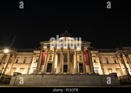 The National Gallery at Night - Stock Image