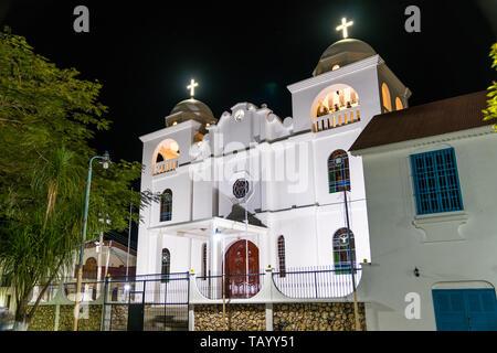 Nuestra Senora de Los Remedios Church in Flores, Guatemala - Stock Image