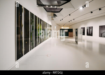 Gallery hall at Lisbon's Museum of Art, Architecture and Technology, Portugal - Stock Image