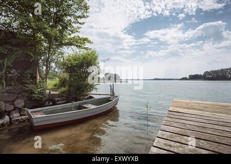 Rowing boat, Passader See, Schleswig-Holstein, Germany, Europe - Stock Image