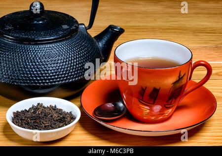 Pu Erh Tea - Stock Image