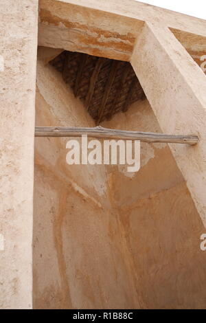 Interior of the wind tower on the Al Alawi House, located on the Pearl Trail, Muharraq, Kingdom of Bahrain - Stock Image