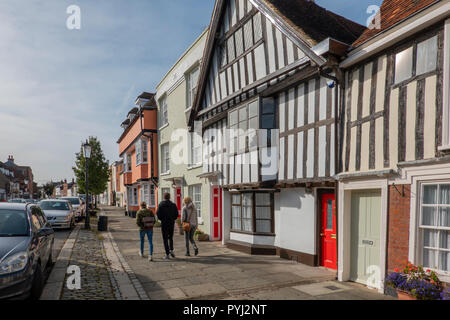 Medieval Houses,Abbey Street,Faversham,Kent,England - Stock Image