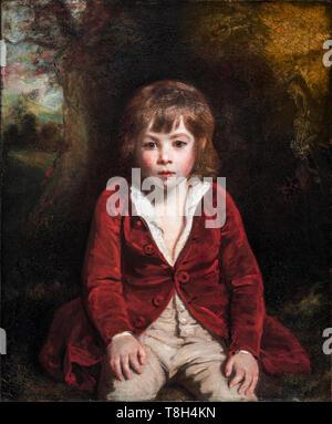 Sir Joshua Reynolds, Portrait of Master Bunbury, painting of a young boy, c. 1780 - Stock Image