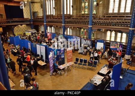 Glasgow, UK. 12th, September, 2018. Glasgow, Scotland, UK. Freshers week in Glasgow University's Bute hall in the lead up to the new term. - Stock Image
