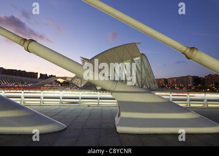 City of sciences and arts by architect Santiago Calatrava, Valencia , Spain, - Stock Image