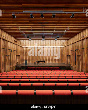 Chamber music hall. Carmen Würth Forum, Künzelsau-Gaisbach, Germany. Architect: David Chipperfield Architects - Stock Image