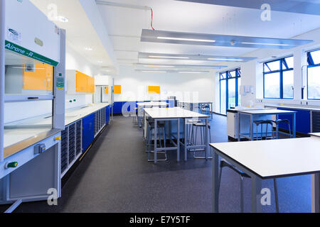 Filtration fume cupboard in a science classroom of Teddington Sixth Form College. - Stock Image