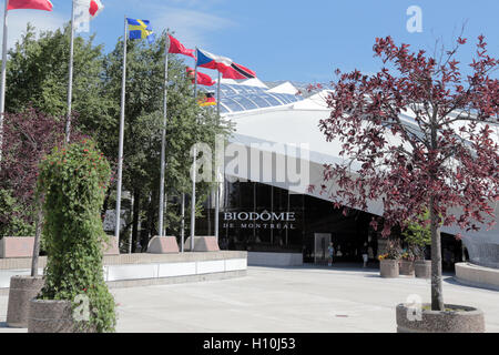 Biodome entrance, Montreal, Quebec, Canada - Stock Image
