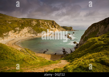 A view toward King's Cove in Dorset. - Stock Image