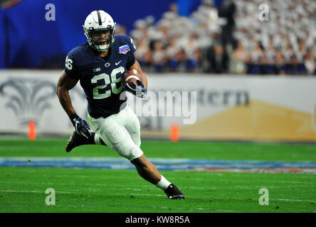 Glendale, AZ, USA. 30th Dec, 2017. Saquon Barkley #26 of Penn State in action during the Playstation Fiesta Bowl - Stock Image