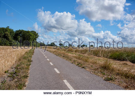 Special summer clouds on the island, Oland, Sweden. - Stock Image