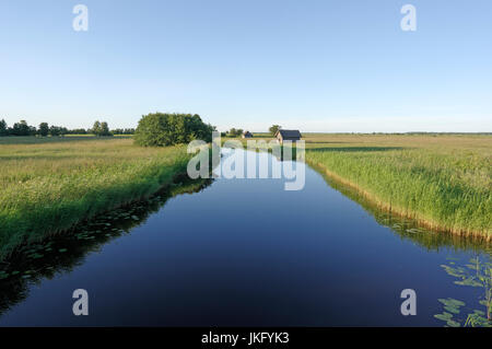 Suitsu river in Matsalu National Park. Estonia 14th July 2017 - Stock Image