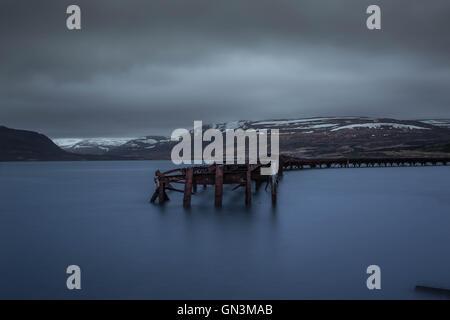 WW2 Naval Base, Iceland Landscapes - Stock Image