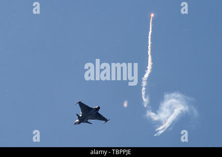The two-day 29th Pardubice Airshow continues on June 2, 2019, in Pardubice, Czech Republic. (CTK Photo/Josef Vostarek) - Stock Image