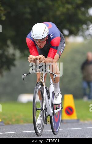 Bristol, UK.  10th September 2016. Tour of Britain stage 7a, time trial.  Jon Dibben of Team Wiggins Credit:  Neville - Stock Image