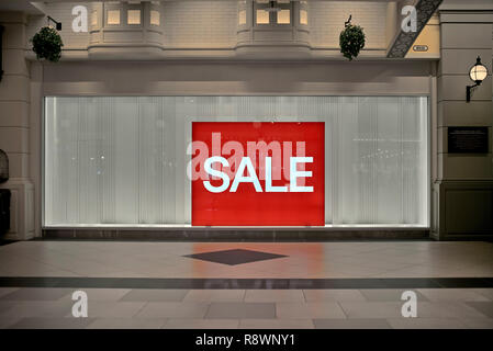 Sale sign shop window - Stock Image
