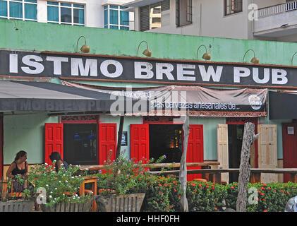 Istmo Brew Pub Panama city Panama - Stock Image