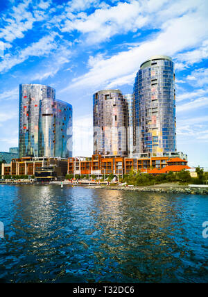 Ritz Carlton Hotel and The Towers at Elizabeth Quay in Perth, Western Australia - Stock Image