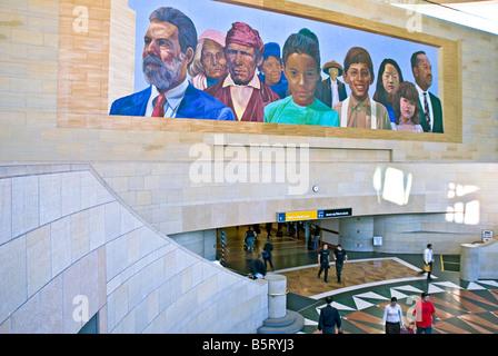 Union train station, Los Angeles, California, usa, downtown, railway, railroad, terminal, depot, Adobe architecture - Stock Image