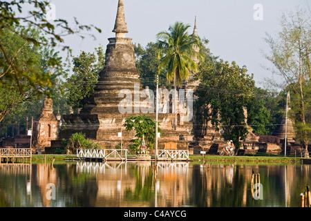 Thailand, Sukhothai, Sukhothai. Sukhothai Historical Park. - Stock Image