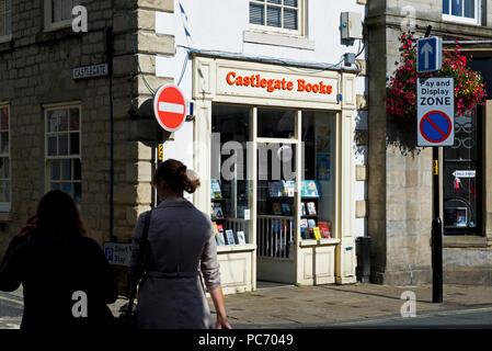 Castlegate Books, an idependent bookshop in Knaresborough, North Yorkshire, England UK - Stock Image