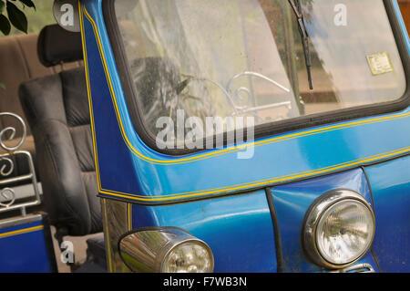 Blue Tuc Tuc (auto Rickshaw) - Thailand, South East Asian Vehicle - Stock Image