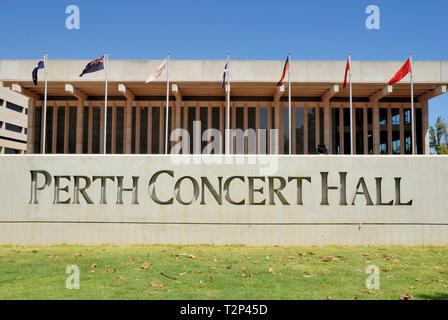 Perth Concert Hall, Perth, Western Australia, Australia, Pacific - Stock Image