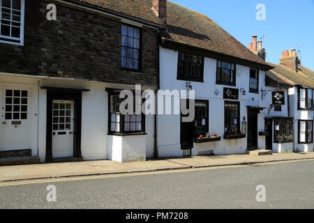 Town houses and shops in East Street, Rye, East Sussex, UK - Stock Image