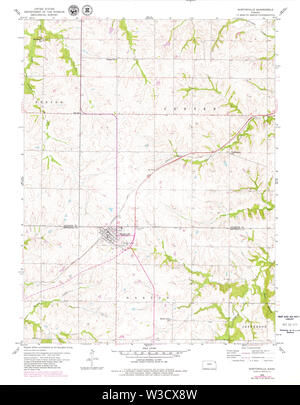 USGS TOPO Map Kansas KS Nortonville 512131 1960 24000 Restoration - Stock Image
