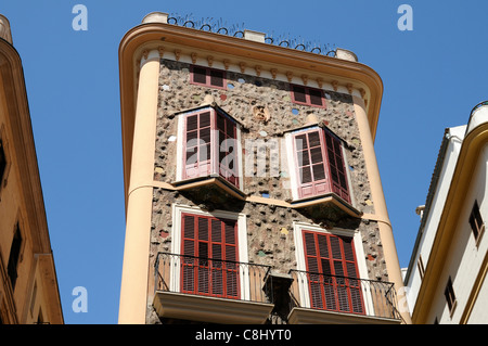 Casa de las Medias, Baustil Modernisme, Palma, Mallorca.   Casa de las Medias, architectural style Modernisme, Palma, - Stock Image
