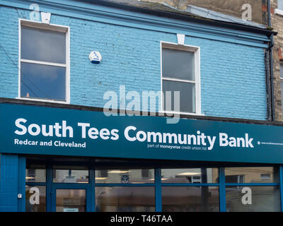 South Tees Community Bank Redcar and Cleveland offers banking services to people who might otherwise be financially excluded - Stock Image