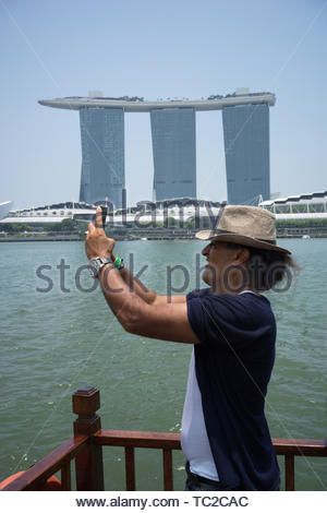 Marina Bay Sands Hotel in Singapore - Stock Image