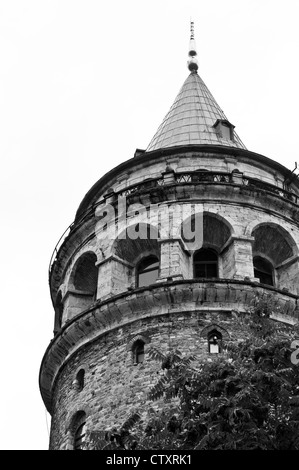 Galata Tower, Beyoglu, Istanbul, Turkey - Stock Image